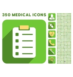 Pad Form Icon and Medical Longshadow Icon Set vector image