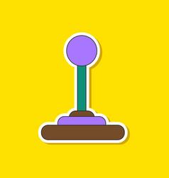 Paper sticker on background of joystick vector
