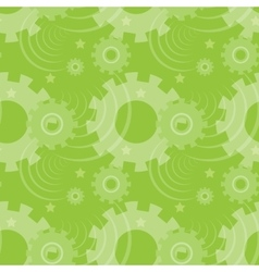 pattern with green gears Creative vector image