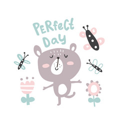 perfect day bear vector image