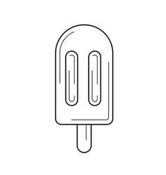 Popsicle line icon vector