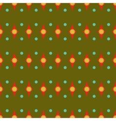 Rhombus and polka dot geometric seamless pattern vector image vector image