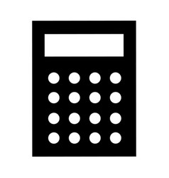 science calculator icon simple style vector image