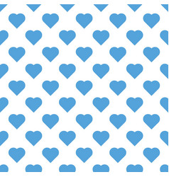 seamless pattern valentine s day with big sky blue vector image