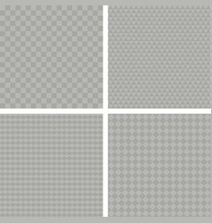 set of seamless backgrounds with different vector image