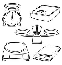 set weighing machine vector image