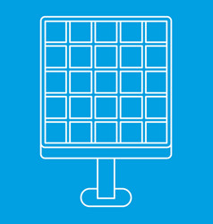 Solar energy concept icon outline style vector