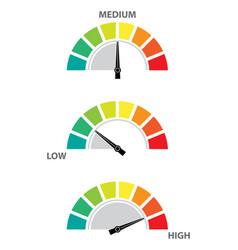 Speedometer risk control concept presentation vector