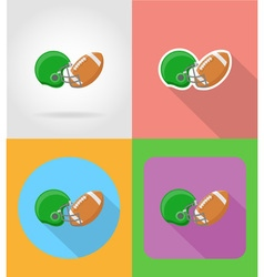 sport flat icons 16 vector image