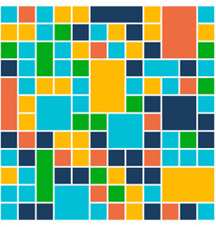 squares color background template flat design vector image