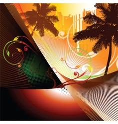 summer abstract vector image