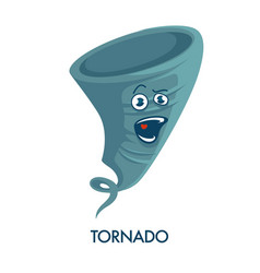 tornado icon with crazy face and open mouth vector image