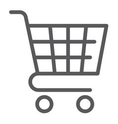 trolley line icon shop and market cart sign vector image