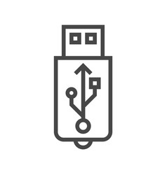 Usb line icon vector