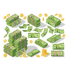 various money bills dollar cash paper bank notes vector image