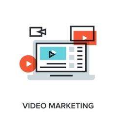 video marketing vector image