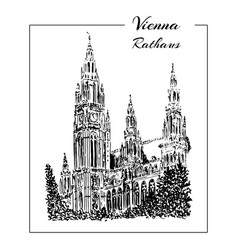 vienna symbol hand drawn sketch vector image