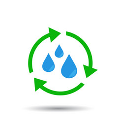 Water cycle icon flat vector