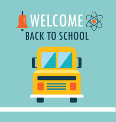 Welcome back to school background flat design vector