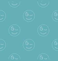 Winks smile pattern seamless vector