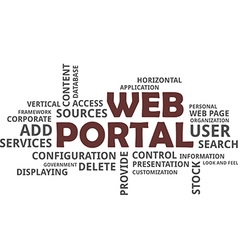 word cloud web portal vector image