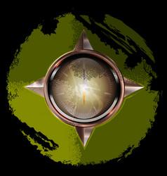 abstract green button vector image vector image