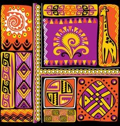 afrikan design elements vector image