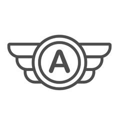 Avia company logo badge or game icon vector image