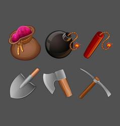 cartoon icons set vector image vector image