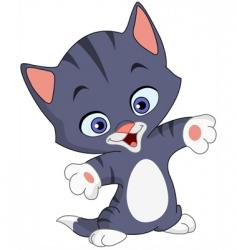 cheerful kitten vector image vector image