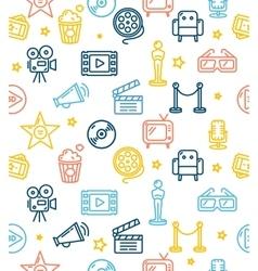 Cinema Background Pattern vector image