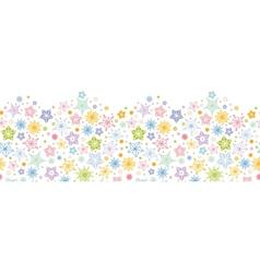 Colorful stars horizontal seamless pattern vector image vector image