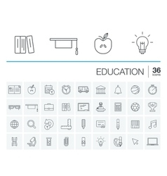 Education and learning icons vector image