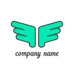 green wings like company branding vector image vector image