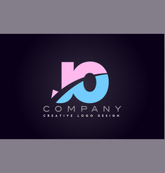 jo alphabet letter join joined letter logo design vector image vector image