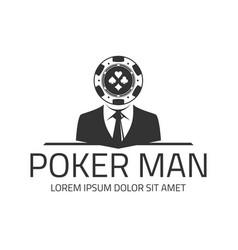 poker logo template vector image vector image