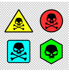 skull sticker icon set vector image