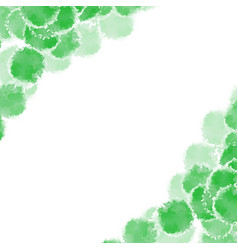 abstract green hand drawn watercolor background vector image vector image