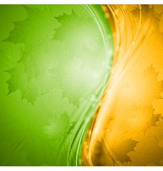 Bright wavy autumn design vector image