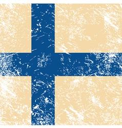 Finland retro flag vector image vector image