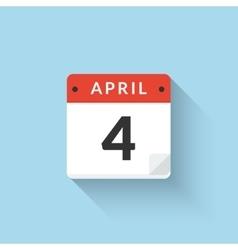 Flat Calendar Icon design Business symbol vector image
