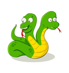 Two Headed Snake vector image vector image