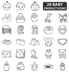 Baby Product Icons vector image