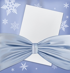 blue bow paper vector image vector image