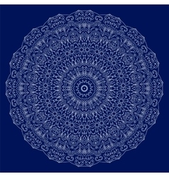 Circular lace ornament vector image