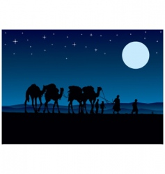 desert camels vector image vector image