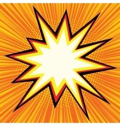 Explosion comics bubble vector image