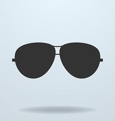 Police or cop sunglasses glasses black icon vector image vector image