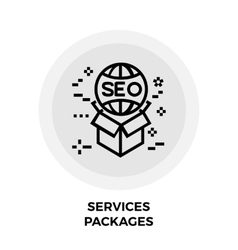 Services Packages Line Icon vector image