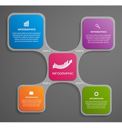 Abstract glass infographic design template in the vector